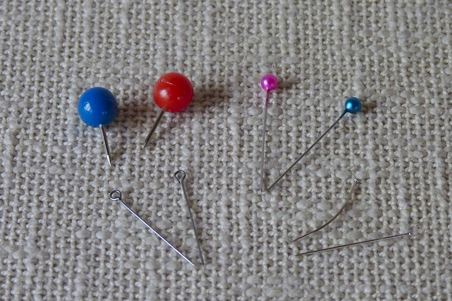 How to choose pins and thimble for hat blocking - Easy Hat