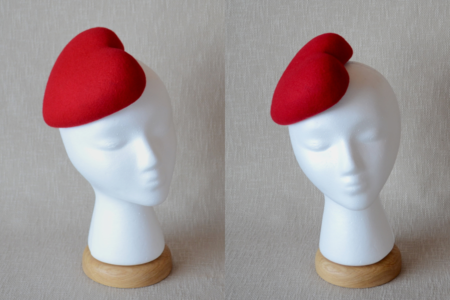 fascinator heart Wooden hat block for millinery hat form