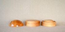 Wooden crown hat block set 4